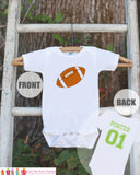 Football Jersey Outfit - Personalized Bodysuit For Boy's 1st Birthday Party - Football Onepiece Birthday Shirt With Name & Age or Number