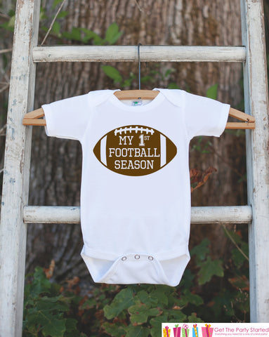Novelty Football Outfit - My 1st Football Season - Baby Shower Gift For Boys - Football Onepiece - Football Shirt - Father's Day Gift