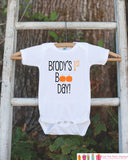 First Halloween Outfit - Baby's 1st Boo Day Onepiece - Halloween Pumpkin Bodysuit for Baby Boy or Baby Girl - My First Halloween Outfit - Get The Party Started