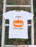 Cutest Pumpkin in the Patch Outfit - Fall Outfit for Baby Boy or Girl - First Thanksgiving - First Halloween - Baby's First Fall Autumn - Get The Party Started