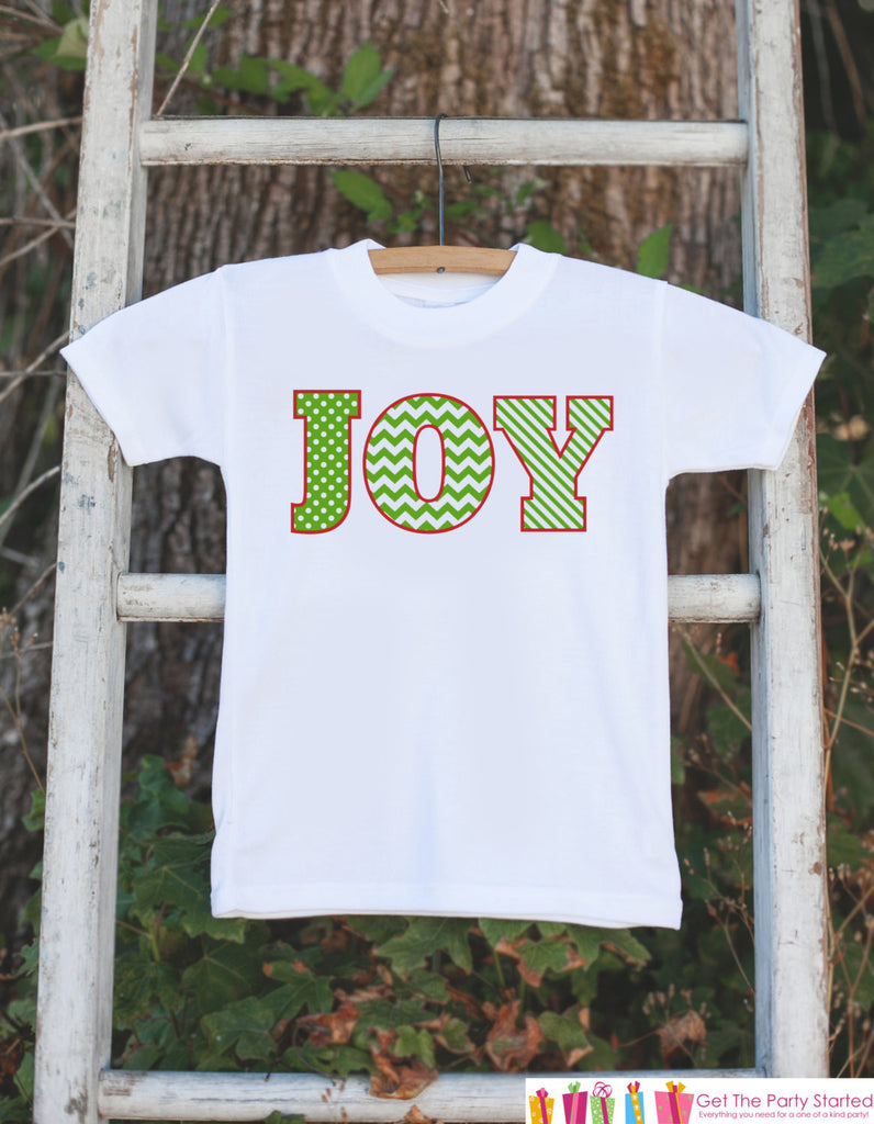 JOY Holiday Outfit - Novelty Christmas Shirt for Kids - Christmas Onepiece - Baby Holiday Party Outfit - Novelty Christmas Outfit - Get The Party Started