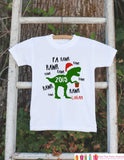 Boys Christmas Outfit - Dinosaur Christmas Onepiece - Custom Personalized Christmas Bodysuit - Christmas Shirt - Boy Dino Fa Rawr Outfit - Get The Party Started