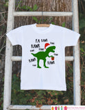 Dinosaur Christmas Onepiece - Boys Christmas Outfit - T.Rex Christmas Bodysuit - Christmas Shirt - Boy Dino Fa Rawr Outfit Tyrannosaurus Rex - Get The Party Started