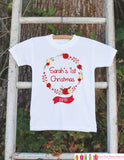 Girl Christmas Outfit 2015 - First Christmas Onepiece - Personalized Outfit With Child's Name - Girls Vintage Floral Wreath Christmas Outfit - Get The Party Started