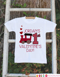 Kids Valentines Day Outfit - Personalized First Valentines Onepiece - Love Train Valentine Bodysuit for Baby Girl or Boy - 1st Valentine's - Get The Party Started