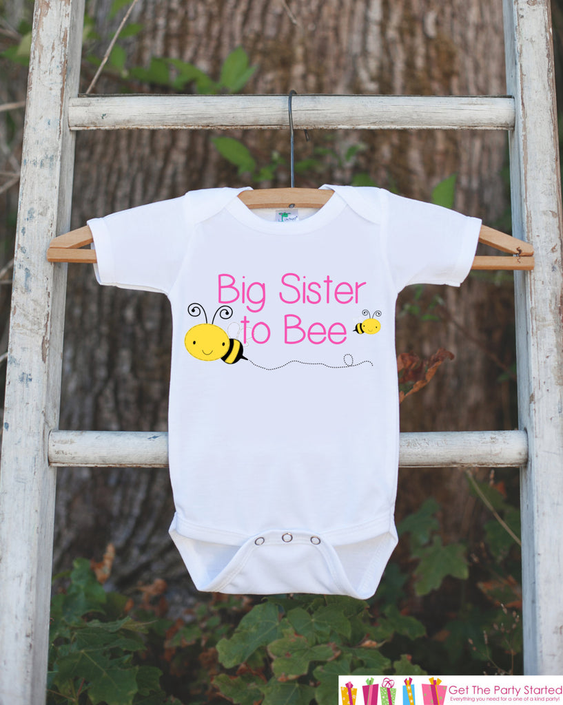 Big Sister Pregnancy Announcement Shirt - Big Sister to Bee Outfit - Big Sister Onepiece - Sibling Reveal Idea for Family & Grandparents