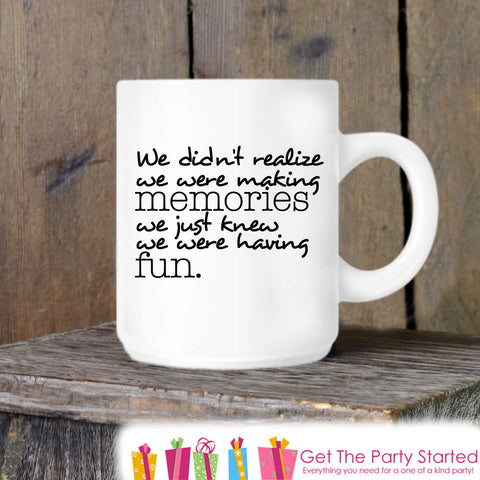 Coffee Mug, Friends Forever, Funny Novelty Ceramic Mug, Humorous Quote Mug, Coffee Cup Gift, Gift Idea for Her or Him, Best Friends Gift - Get The Party Started