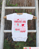 First Valentine's Day Outfit - Personalized Valentine Onepiece - Baby's First Holiday - Kids 1st Valentines Day Bodysuit for Baby Girls - Get The Party Started