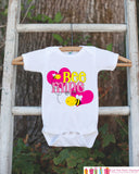 Girls Valentines Day Outfit - Bee Mine Valentines Onepiece - Novelty Valentine Shirt for Baby Girls - Kids Valentines Day Outfit with Hearts - Get The Party Started
