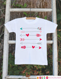 Kids Valentines Day Outfit - Valentines Onepiece - Novelty Valentine Shirt with Arrows for Baby Girls or Boys - Kids Valentines Day Outfit - Get The Party Started