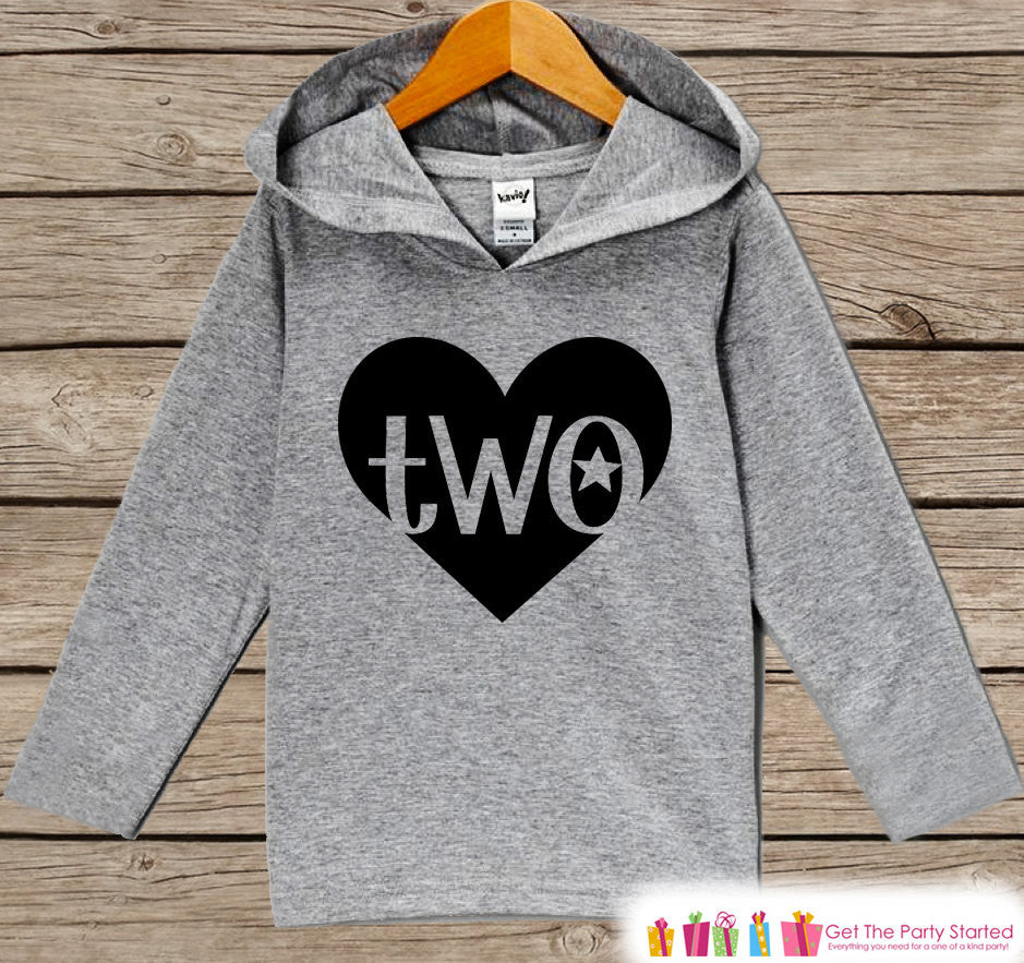 Two Birthday Top - Kids Hoodie Outfit - Two Pullover - 2nd Birthday Shirt - Childrens Hoodie - Second Birthday Shirt - Kids 2nd Birthday Top - Get The Party Started