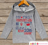 Boys Valentine Outfit - Boys Hoodie - First Valentines Pullover - Boys 1st Valentine's Day Shirt - Boy Toddler Hoodie - Infant Hoodie Top - Get The Party Started