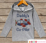 Kids Hoodie - Airplane Pullover - Daddy's Co-Pilot Outfit - Father's Day Gift Idea - Grey Toddler Hoodie - Kids Hoodie - Airplane Shirt Top