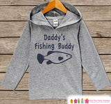 Kids Hoodie - Fishing Pullover - Daddy's Fishing Buddy Outfit - Father's Day Gift Idea - Grey Toddler Hoodie - Kids Hoodie - Fishing Shirt