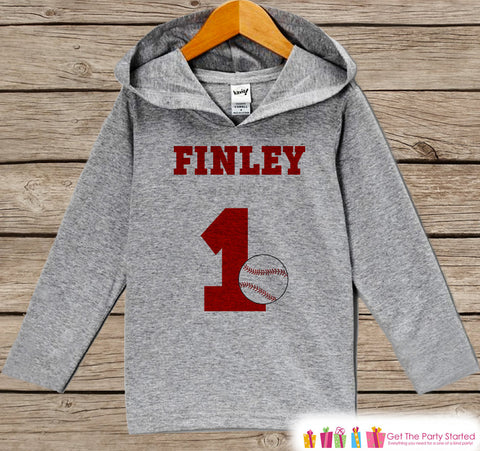 Baseball Birthday Outfit - Kids Hoodie - First Birthday Pullover - 1st Birthday Shirt - Boy Hoodie - Baseball Birthday Top - Birthday Hoodie