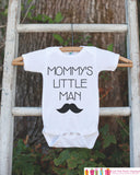 Mustache Mommy's Little Man Onepiece or Tshirt - Baby Boy's Outfit - Baby Shower Gift Idea - Little Man Bodysuit Outfit - Newborn Infant