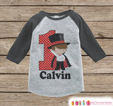 First Birthday Magician Outfit - Boys 1st Birthday Onepiece or T-shirt - Magic Grey Raglan Shirt - 1st Birthday - Magic Birthday Raglan Tee