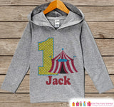 Circus Birthday Outfit - Kid Hoodie - First Birthday Pullover - 1st Birthday Shirt - Boy Hoodie - First Birthday Top - Kids Carnival Hoodie - Get The Party Started