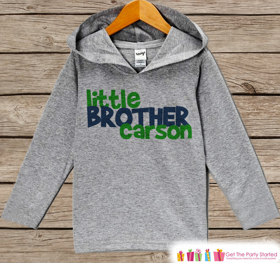 Boys Little Brother Outfit - Little Brother Hoodie - Toddler Pullover Outfit - Novelty Grey Toddler Hoodie - Little Brother Outfit - Infant