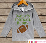 Kids Hoodie - Daddy's Football Buddy Pullover - Sports Outfit - Boys Grey Toddler Hoodie - Kids Hoodie Father's Day Gift - Novelty Baby Boys
