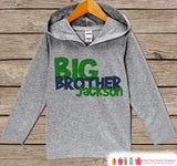 Boys Big Brother Outfit - Big Brother Hoodie - Toddler Boys Pullover Outfit - Novelty Grey Toddler Hoodie - Big Brother Outfit, Top, Shirt