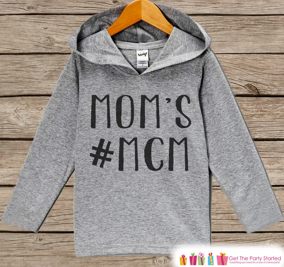 Kids Mother's Day Outfit - Mom's #MCM Hoodie - Baby Shirt - Children's Pullover - Grey Toddler Hoodie - Hashtag Boy Infant or Toddler Hoodie