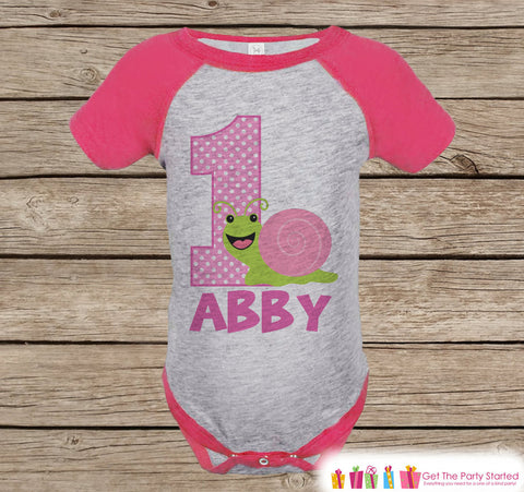 Girls First Birthday Bugs Outfit - Girls 1st Birthday Insect Onepiece or Tshirt - Pink Raglan Shirt - 1st Birthday Raglan Tee for Baby Girls - Get The Party Started