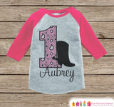 Girls First Birthday Cowgirl Outfit - 1st Birthday Western Onepiece or Tshirt - Pink Raglan Shirt - 1st Birthday Raglan Tee for Toddlers - Get The Party Started