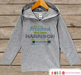 Boys First Day of Preschool Outfit - Personalized 1st Day of School Shirt - Back to School Hoodie - Kids My First Day of School Pullover - Get The Party Started