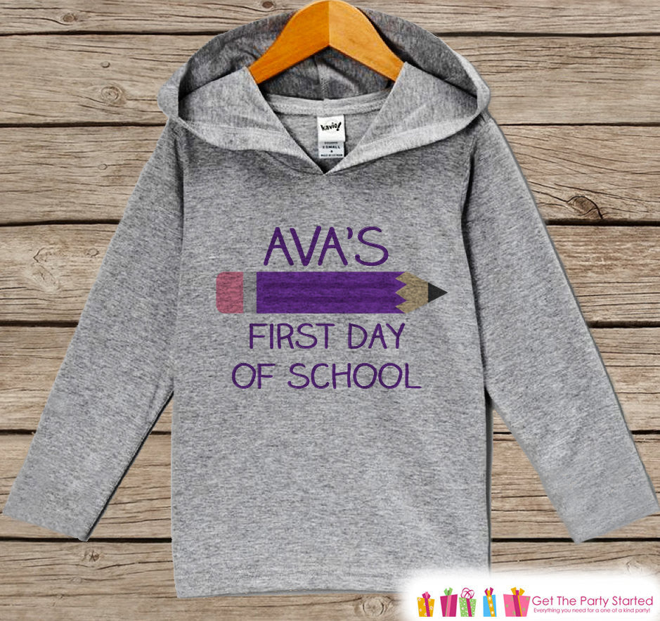 Girls First Day of School Outfit - Kids 1st Day of School Hoodie - Children's Back to School Shirt - Kids My First Day of School Top - Get The Party Started