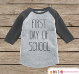 Kids First Day of School Outfit - Boys 1st Day of School Shirt - Kids Grey Raglan Tee - My 1st Day of School Outfit - Back to School Shirt - Get The Party Started