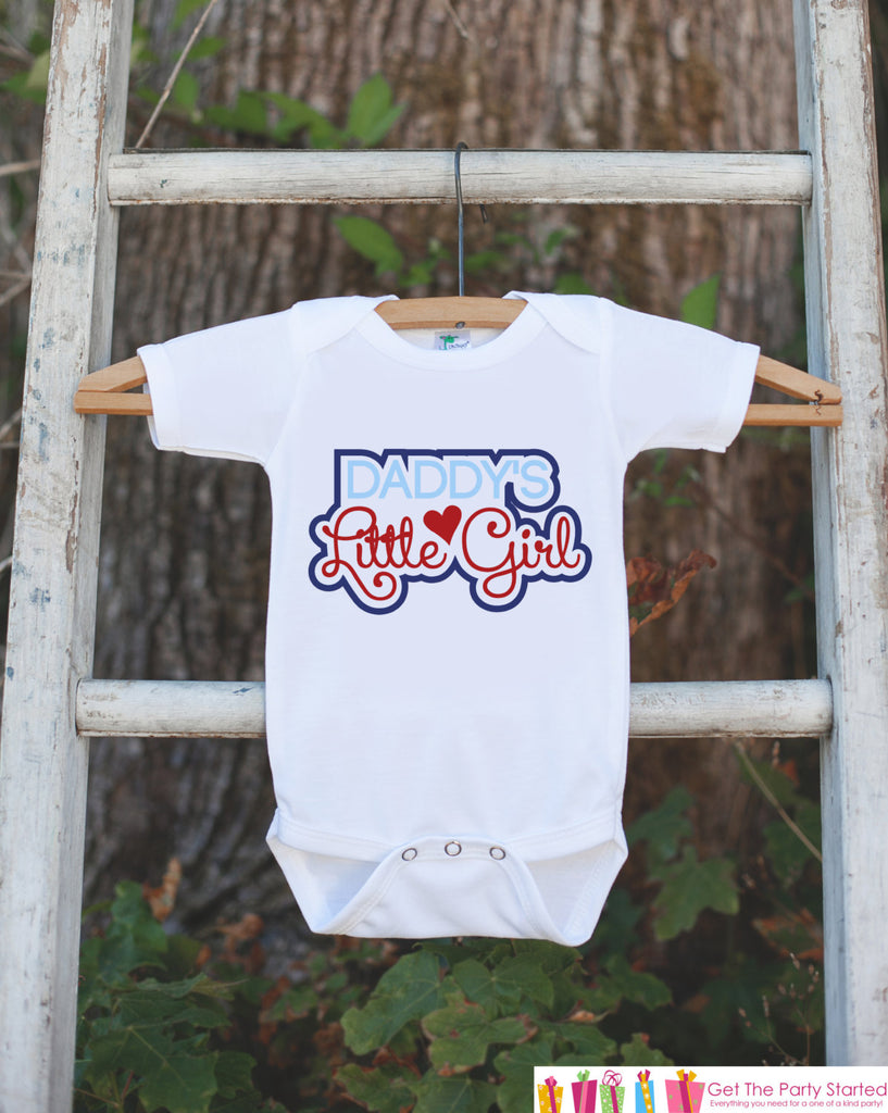 Daddy's Little Girl Outfit - Kids Happy 1st Fathers Day Onepiece or Shirt - Youth, Toddler, Kids, Baby Shower Gift Idea - First Fathers Day