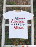 Girls 4th of July Outfit - All American Girl Onepiece or Tshirt - Fourth of July Shirt for Baby Girls - Kids Patriotic Shirt - 4th of July - Get The Party Started