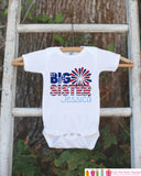 Girls 4th of July Outfit - Custom Big Sister Onepiece or Tshirt - Fourth of July Shirt for Baby Girls - Kids Patriotic Shirt - 4th of July