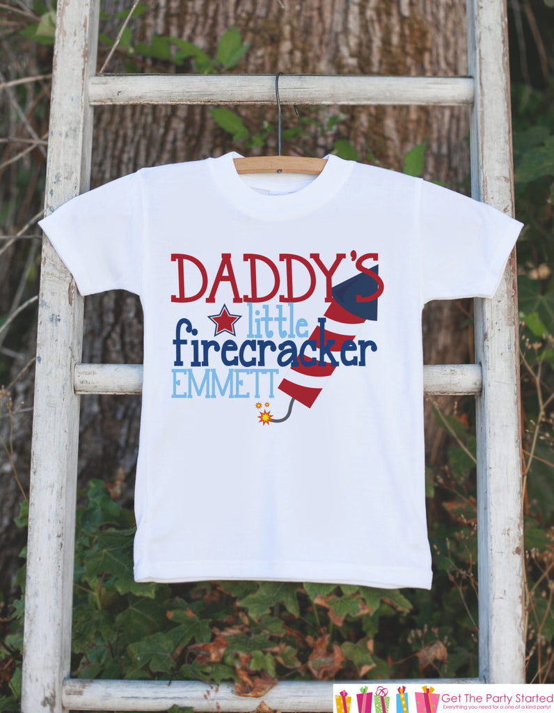 4th of July Outfit - Daddy's Little Firecracker - Custom Onepiece or Tshirt - Fourth of July Shirt for Baby, Youth, Toddler - 4th of July - Get The Party Started