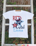 Girls 4th of July Outfit - Custom Red White and Cute Onepiece or Tshirt - Fourth of July Shirt for Baby Girls - Kids USA Patriotic Shirt