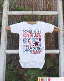 Kids 4th of July Outfit - Custom My First 4th of July Onepiece or Tshirt - Fourth of July Shirt for Baby, Toddler, Youth - 4th of July Shirt
