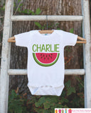 Watermelon Onepiece or Tshirt - Custom Summer Outfit For Kids, Infants -  Summer Onepiece or Shirt, Baby, Youth, Toddler - Summer Outfit