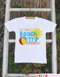 First Beach Trip Onepiece or T-shirt - Custom Summer Outfit For Kids, Infants -  Fun Summer Onepiece or Shirt, Baby, Youth, Toddler