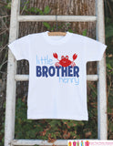 Little Brother Crab Onepiece or T-shirt - Custom Summer Outfit For Kids, Infants - Summer Onepiece or Shirt, Baby, Youth, Toddler