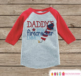 Daddy's Little Firecracker Onepiece or T-shirt - Custom 4th of July Outfit - Red Raglan Shirt, Baseball Tee - Fourth of July Shirt