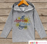Girls 4th of July Outfit - All American Princess Hoodie - Custom Children's Pullover - Grey Toddler Hoodie - Infant Hoodie - Fourth of July - Get The Party Started