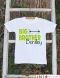 Boy's Big Brother Outfit - White Shirt, Onepiece - Personalized Kids T-Shirt, Onepiece - Custom Camping Shirt Baby, Toddler, Youth