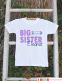 Girl's Big Sister Outfit - White Shirt, Onepiece - Personalized T-Shirt, Onepiece - Camping Shirt Baby, Toddler, Youth - Adventure Clothing