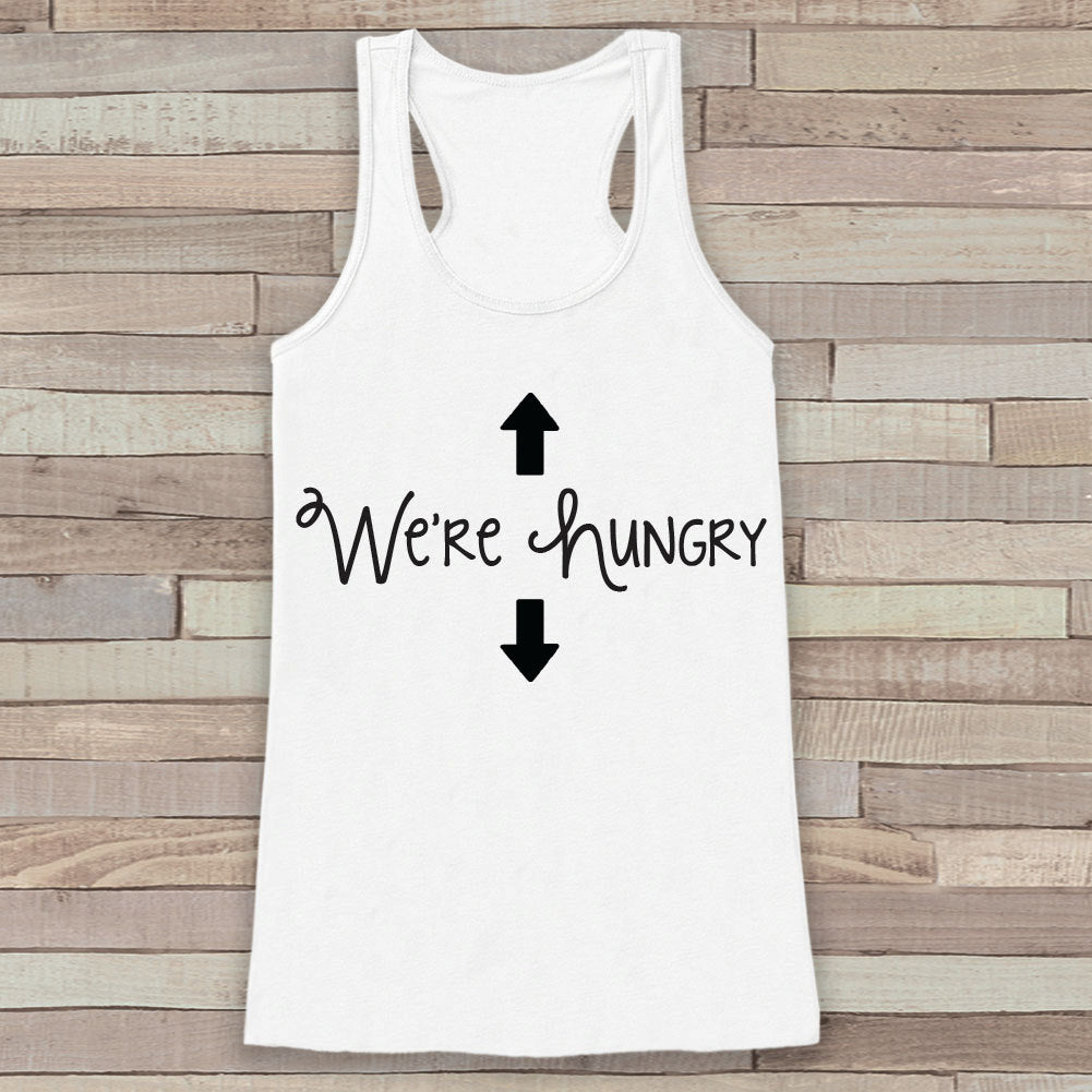 Pregnancy Announcement Tank - Simple Pregnancy Shirt - We're Hungry Tank - White Tank Top - Pregnancy Announcement Shirt - New Mom
