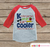 Boys First Day of School Shirt - 1st Day of Kindergarten Outfit - Boys Red Raglan Tee - My 1st Day of School Tshirt - Back to School Top