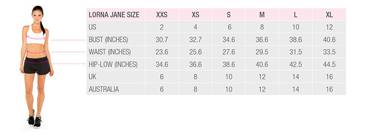 Lorna Jane - Size Chart | Living Activewear