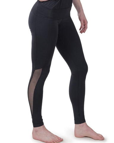 New Bamboo Fitted Yoga Flare in Black