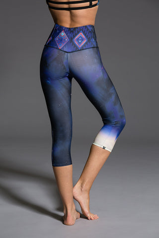 High Rise Graphic Capri Pant - LED