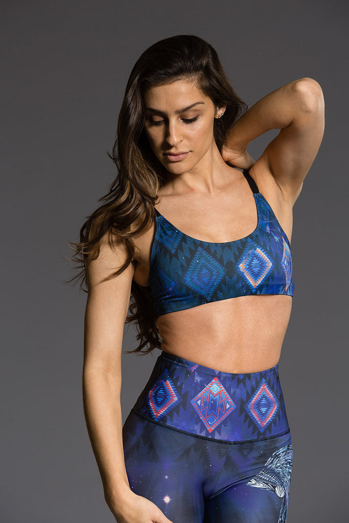 Graphic Elastic Bra - GREAT SPIRIT by Onzie, Onzie - Pronounce Activewear